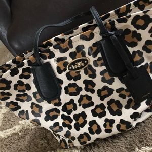 Leopard Print Large Coach Purse